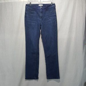J.Jill Smooth Fit Straight Stretch Jeans Sz 8